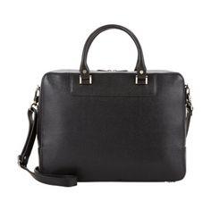 Barneys New York Zip-Around Briefcase - Black Saffiano