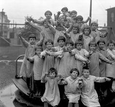 Children at Masonic Widows & Orphans Home, Louisville, Kentucky, 1921. :: Caufield & Shook Collection