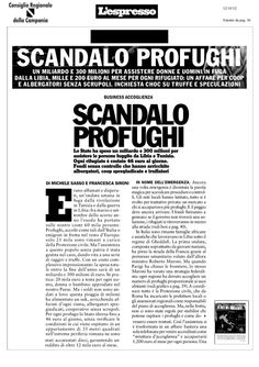 immigrati-lo-scandalo-profughi by Alessio Viscardi via Slideshare