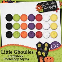 Little Ghoulies Cardstock Photoshop Styles