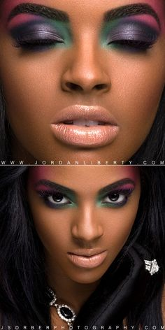 COLOR!! Makeup for dark brown skin.
