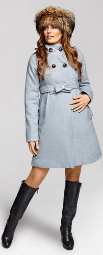 Candy grey jacket keeps you cute and warm