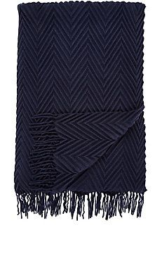 Pleated Cashmere Throw