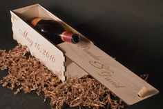 Custom wooden wine box, cute wedding or anniversary gift, starting at $45 (they make wedding card boxes too!)
