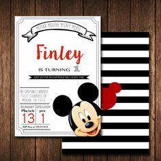 Invitación de MICKEY MOUSE Mickey Birthday Mickey por TLCSquared