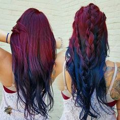 Inspiring Pastel Hair Color Ideas – My hair and beauty Hair Dye Colors, Ombre Hair Color, Cool Hair Color, Magenta Hair, Bright Hair Colors, Coiffure Hair, Best Ombre Hair, Dye My Hair, Hair Dos