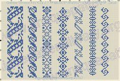 Cross Stitch Borders, Cross Stitching, Cross Stitch Embroidery, Crochet Diagram, Knit Patterns, Rib Knit, Christmas Stockings, Tapestry, Quilts