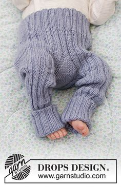 Baby Knitting Patterns, Knitting For Kids, Baby Patterns, Free Knitting, Drops Design, Crochet Baby, Knit Crochet, Knitted Baby, Knit Baby Pants