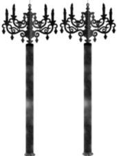 Hanging Candelabras - Party City - I bought these last year and LOVED them! Such a great price too!