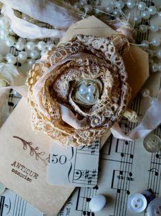 Noelle Garrett Designs: Lace Roses