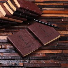 Personalized His & Her Leather Journal Set-SR
