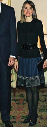 Princess Letizia in a classy skirt.