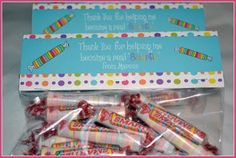 """Thank you for helping me become a real """"Smartie."""" Teacher Appreciation"""