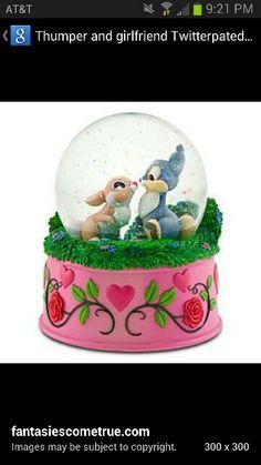 Thumper&Miss Bunny snowglobe