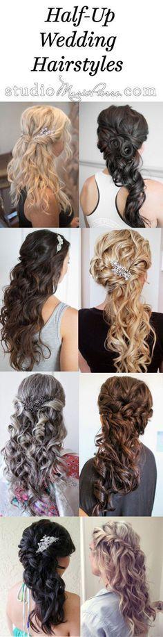 Half-Up, Half-Down Wedding Hairstyles