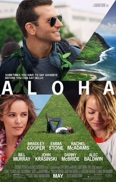 Take a new look at Cameron Crowe's next with the Aloha poster. Catch the film, starring Bradley Cooper, Emma Stone and Rachel McAdams, in theaters May See Movie, Movie List, Movie Tv, Movies To Watch, Good Movies, Bradley Cooper, Internet Movies, Movies Online, Chick Flicks
