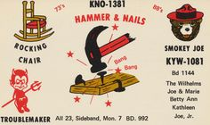 QSL cards are used by radio amateurs to confirm their two-way radio contacts with each other. Each amateur or 'ham' has their own card which is exchanged with the other amateur or 'station' in that two-way contact. Graphic Design Posters, Graphic Design Inspiration, Typography Design, Chicago Gangs, Smokey Joe, Card Drawing, Two Way Radio, Calling Cards, Wine Label