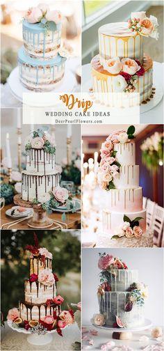 drip wedding cake ideas #weddings #weddingcakes #cakes ❤️ http://www.deerpearlflowers.com/wedding-cake-trends/
