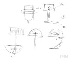 First sketches of timeless and unique, art deco ispired lamps by atelier 1925 Art Deco Lighting, Unique Art, Lamps, Sketches, Concept, Inspiration, Design, Atelier, Lightbulbs