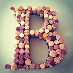 LOVE it Wine Cork Letter Wreath for your Home or Wedding by TheBootletter, $45.00