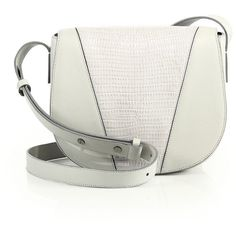 Vince Modern V Small Lizard-Embossed Leather & Smooth Leather... (24,665 INR) ❤ liked on Polyvore featuring bags, handbags, shoulder bags, apparel & accessories, pearl, genuine leather shoulder bag, leather crossbody purse, leather shoulder bag, white leather purse and leather crossbody handbags