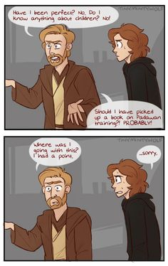 Obi-Wan and Aunt Cass have much in common... Dont know whether to put it on my disney or sw board.