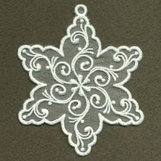 Organza Decorative Snowflakes Set, 10 Designs - 4x4 | What's New | Machine Embroidery Designs | SWAKembroidery.com