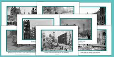 Poster set featuring images of the aftermath of the Easter 1916 Rising. Primary Resources, Teaching Resources, Photo Wall, Easter, Activities, History, Guns, Image, Search