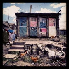 Toilets in a Nairobi Slum. Slums, Nairobi, Toilets, Kenya, Art Direction, African, World, Photography, Painting