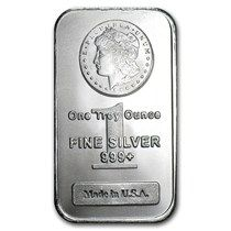 1 Oz Silver Bar Morgan Design Silver Bars Silver Bullion Design Silver