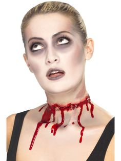 Halloween Barbed Wire Split Gory Fake Scar Zombie Make Up Wound With Glue 37172