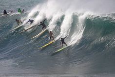Giant surf slams Waimea, Pipe & Jaws Giant surf pounds north and west shores of Oahu. The waves were too big for Volcom Pipeline Pro, but not big enough for the 'Eddie.'