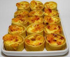 Mini Quiches, Minis, Canapes, Pasta, Brunch, Pudding, Breakfast, Desserts, Carne