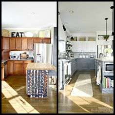 This is very close to what I want to do with my kitchen! I have a nice kitchen, it's just not my dream kitchen.