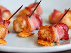 Bacon- Wrapped Tater Tots Stuffed with Cheddar Cheese and Tabasco- the ...