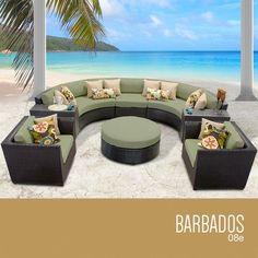 TKC Barbados 8 Piece Outdoor Wicker Patio Furniture Set * Visit the image link more details.