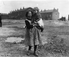 A miner's children, England, 1921.