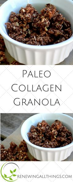 Paleo Collagen Granola! made with coconut flakes and sunflower seeds!