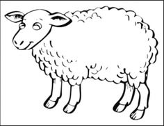 sheep coloring pages for preschool free printable coloring