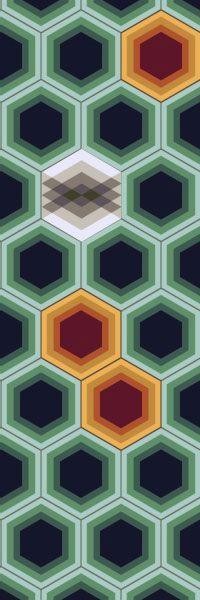 Tile Pattern by Tracey Reinberg at Kismet Tile. Agave House Garden, Ojai, California, 2011