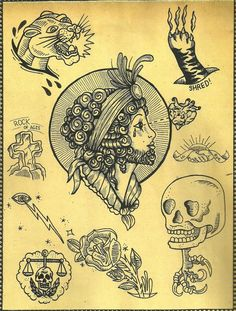 Bearded lady by Sue Jeiven. #neotraditional #tattooflash
