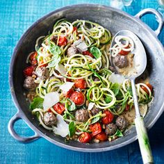 Looking to work your way through a glut of courgettes? See our 10 top ideas for using up this versatile vegetable, from cakes and bakes to soup and courgetti. Bbc Good Food Recipes, Milk Recipes, Other Recipes, Side Dish Recipes, Vegetable Recipes, Pasta Recipes, Cooking Recipes, Vegetarian Rice Dishes, Vegan Dishes