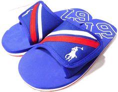Polo Ralph Lauren Kids Ferry slide III Blue EVA Fashion Slide Sandal US 5 Junior #LaurenRalphLauren #Slides