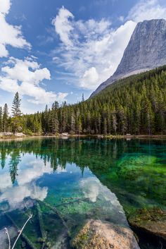 Canadian Rockies. Grassi Lakes, short hike near Banff. I had never seen a lake look like this. Beaut by Tommy Farnsworth, via 500px