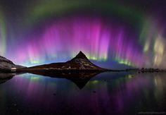 Aurora borealis in Iceland.                   Source: Instagram user ed_norton