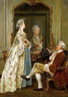 The linen cupboard, Laing Art Gallery. Romantic Paintings, Classic Paintings, Beautiful Paintings, Victorian Paintings, Victorian Art, 18th Century Fashion, Classical Art, Couple Art, Art Gallery