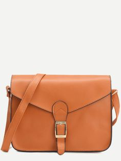 aa20b677d1 Shop Yellow Faux Leather Flap Strap Buckle Bag online. SheIn offers Yellow  Faux Leather Flap