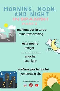 Learn fluent Spanish today - Learn fluent Spanish today - #spanishgrammar #aprendiendoespañol #languages #learnspanish #spanishlessons #spanishvocabulary #easyspanish #spanishforbeginners #spanishphrases #spanish #spanishforkids #learningspanish #spanishvocabulary #spanishphrases #spanishquotes #elsalvador #centralamerica #eltunco #elzonte #travelcentralamerica Spanish Vocabulary, El Salvador, Learn Spanish, Night