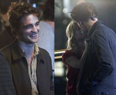 Rob and Emilie de Ravin on the set of Remember Me