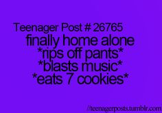 So true. Except the seven cookie part... I eat WAY more that just seven cookies